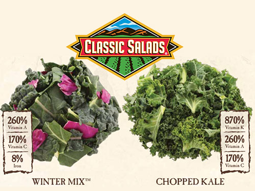 Classic Salads new kale products