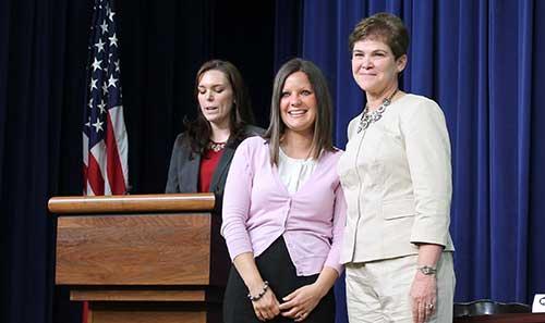 Kristen Fritz Kubiszak at the White House