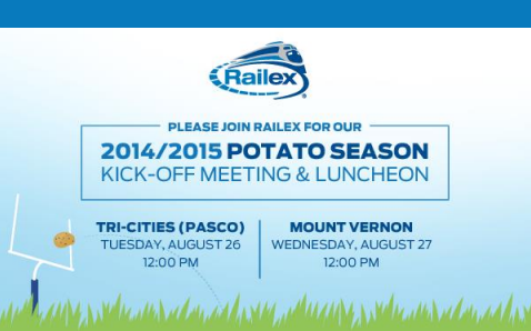 Railex Hosting Potato Season Kick-Off Meeting & Luncheon